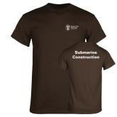 Brown T Shirt-Submarine Construction