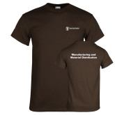 Brown T Shirt-Manufacturing and Material Distribution