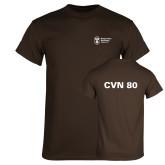 Brown T Shirt-CVN 80 and 81