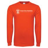 Orange Long Sleeve T Shirt-Newport News Shipbuilding