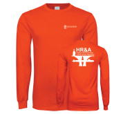 Orange Long Sleeve T Shirt-HR and A