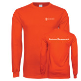 Orange Long Sleeve T Shirt-Business Management