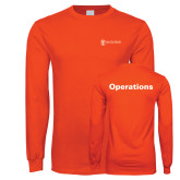 Orange Long Sleeve T Shirt-Operations