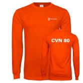 Orange Long Sleeve T Shirt-CVN 80 and 81