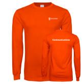 Orange Long Sleeve T Shirt-Comms