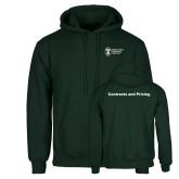 Dark Green Fleece Hood-Contracts and Pricing