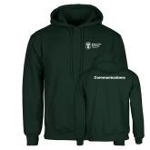 Dark Green Fleece Hood-Comms
