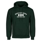 Dark Green Fleece Hood-NNS College Design