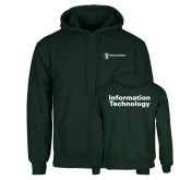 Dark Green Fleece Hood-Information Technology