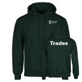 Dark Green Fleece Hood-Trades