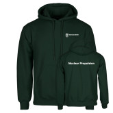 Dark Green Fleece Hood-Nuclear Propulsion