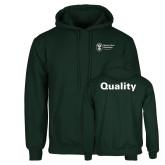 Dark Green Fleece Hood-Quality