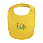 Yellow Baby Bib-Future Shipbuilder