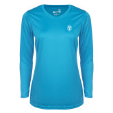 Ladies Syntrel Performance Light Blue Longsleeve Shirt-Icon