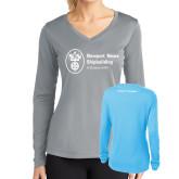 Ladies Syntrel Performance Light Blue Longsleeve Shirt-Nuclear Propulsion