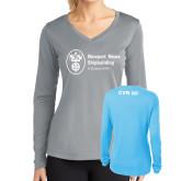 Ladies Syntrel Performance Light Blue Longsleeve Shirt-CVN 80 and 81