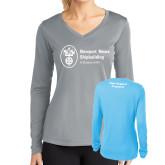 Ladies Syntrel Performance Light Blue Longsleeve Shirt-Fleet Support Programs