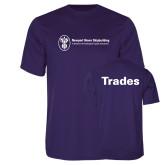 Performance Purple Tee-Trades