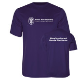 Performance Purple Tee-Manufacturing and Material Distribution
