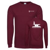 Maroon Long Sleeve T Shirt-Programs Division