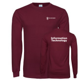Maroon Long Sleeve T Shirt-Information Technology