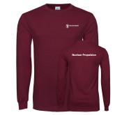 Maroon Long Sleeve T Shirt-Nuclear Propulsion