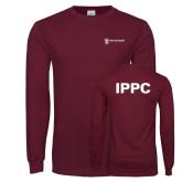 Maroon Long Sleeve T Shirt-IPPC