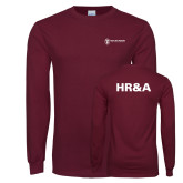 Maroon Long Sleeve T Shirt-HR and A