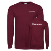 Maroon Long Sleeve T Shirt-Operations
