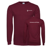 Maroon Long Sleeve T Shirt-Contracts and Pricing