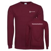 Maroon Long Sleeve T Shirt-Comms