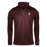 Russell Maroon Heather 1/4 Zip-Icon
