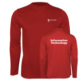 Performance Cardinal Longsleeve Shirt-Information Technology