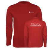 Performance Cardinal Longsleeve Shirt-Submarine Construction