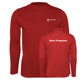 Performance Cardinal Longsleeve Shirt-Navy Programs