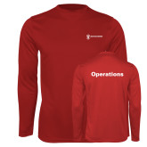 Performance Cardinal Longsleeve Shirt-Operations