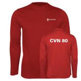 Performance Cardinal Longsleeve Shirt-CVN 80 and 81
