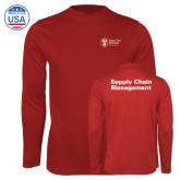 Performance Cardinal Longsleeve Shirt-Strategic Sourcing