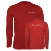 Performance Cardinal Longsleeve Shirt-Comms