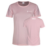 Ladies Performance Light Pink Tee-HR and A