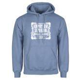 Light Blue Fleece Hoodie-NNS Vintage