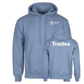 Light Blue Fleece Hoodie-Trades