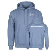 Light Blue Fleece Hoodie-Nuclear Propulsion
