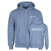 Light Blue Fleece Hoodie-Manufacturing and Material Distribution