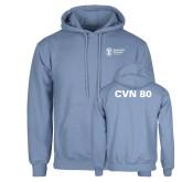Light Blue Fleece Hoodie-CVN 80 and 81