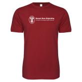 Next Level SoftStyle Cardinal T Shirt-Newport News Shipbuilding