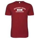 Next Level SoftStyle Cardinal T Shirt-NNS College Design