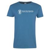 Ladies Sapphire T Shirt-Newport News Shipbuilding