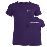 Ladies Russell Purple Essential T Shirt-Comms