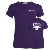 Ladies Russell Purple Essential T Shirt-HR and A